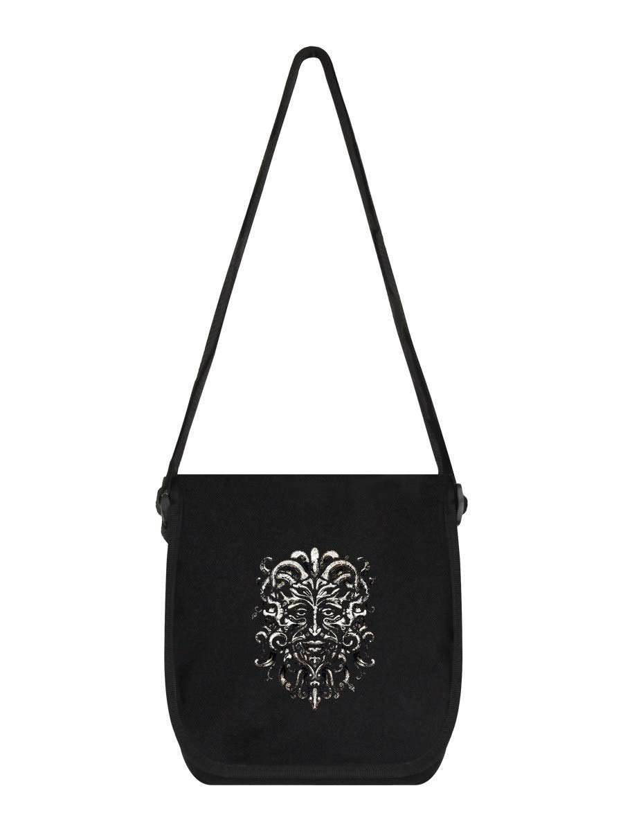 Green Man Mini Messenger Bag Black 19 x 25 x 8cm