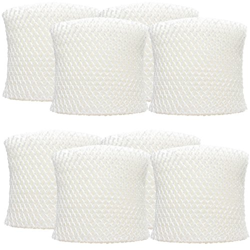 8-Pack Replacement HWF64 filter for Sunbeam, Holmes, White Westinghouse - Compatible with Sunbeam SCM1746, Holmes HWF64, HWF-64, ''B'', HM1745, HM1746, HM2200, Sunbeam SCM1747, SF213 by UpStart Appliance Parts