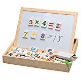 Baby Toys Multifunctional Writing Board Magnetic Number Puzzle Wooden Toy