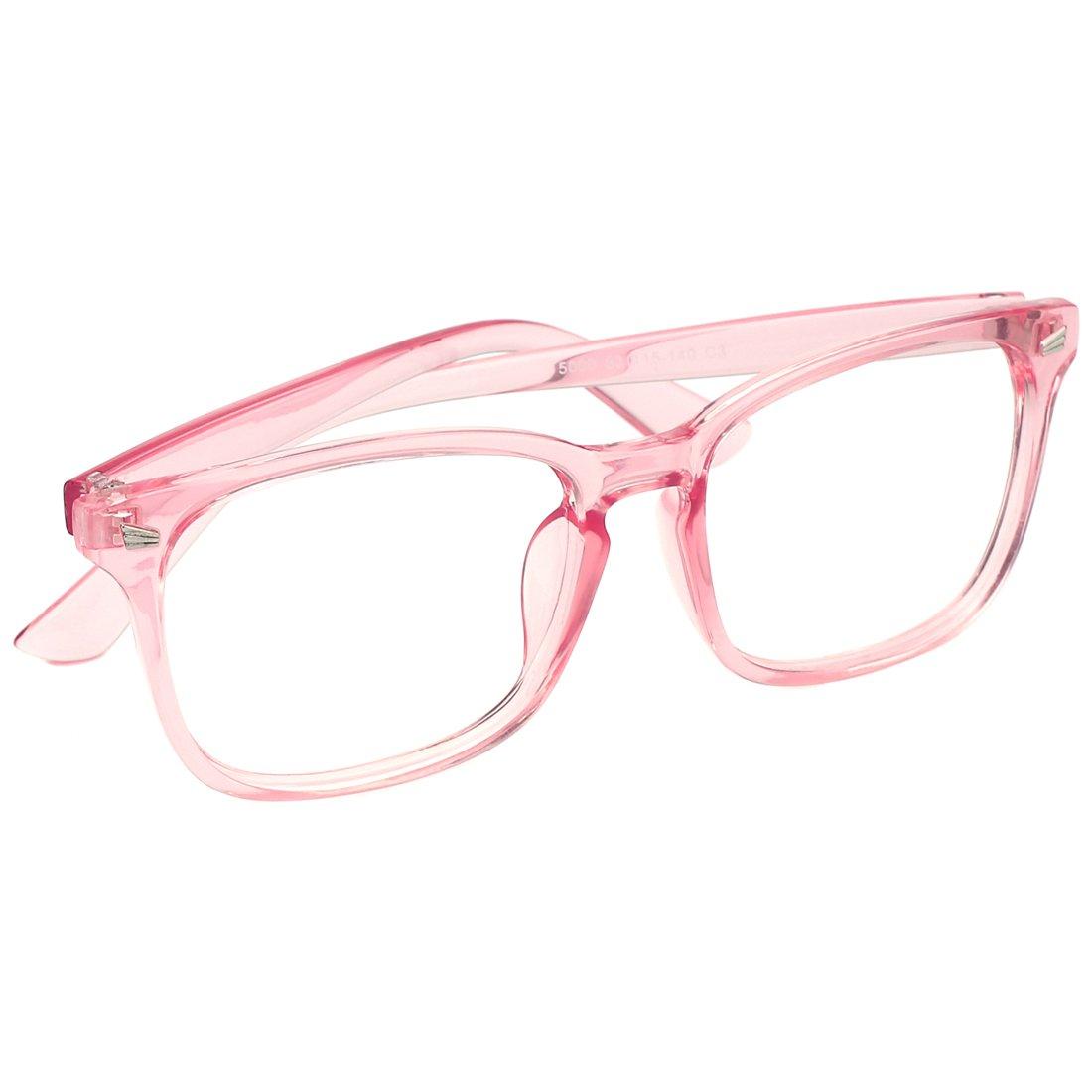modesoda Unisex Eyewear Nerdy Classic Eyeglasses Frame Clear Lens for Women and Man