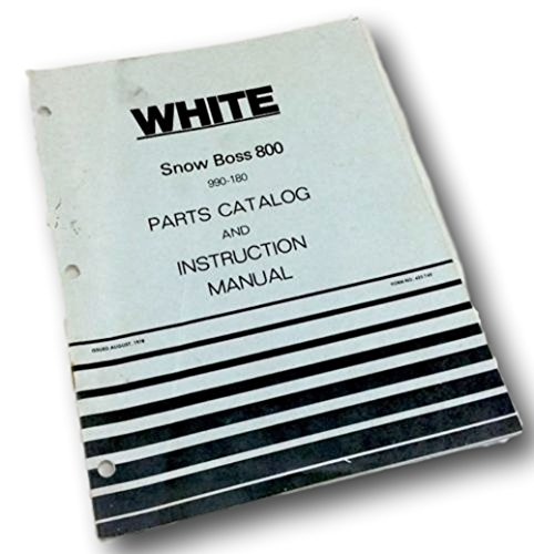 White Snow Boss 800 Snow Thrower Parts Catalog Instruction Operators (Snow Thrower Manual)