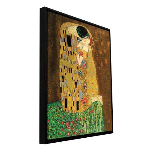ArtWall Gustav Klimt Floater Framed Gallery Wrapped Canvas Art, 36 by 48-Inch, The Kiss ()
