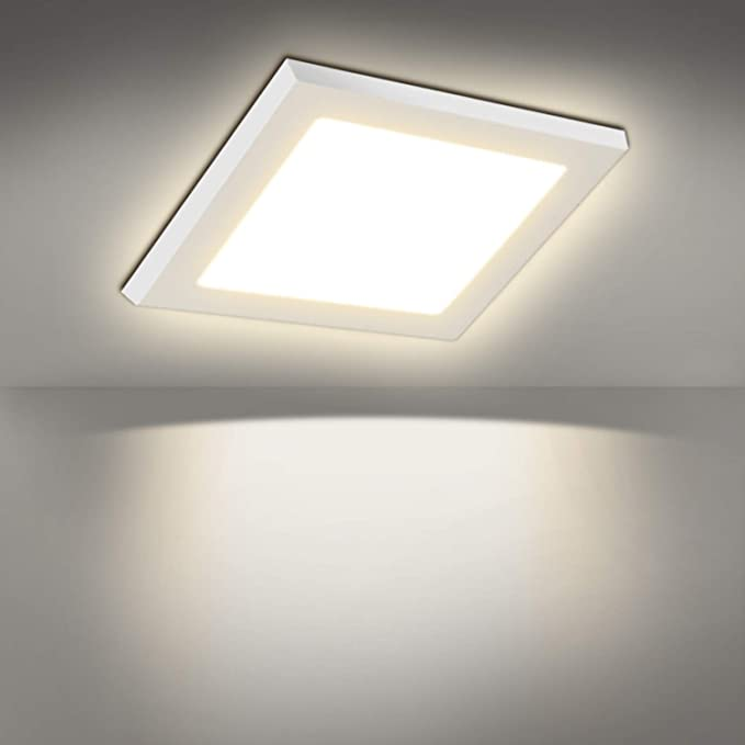 LED Panel Dimmbar Deckenleuchte Gebürstet Silber Ultraslim Einbauleuchte  3-18W
