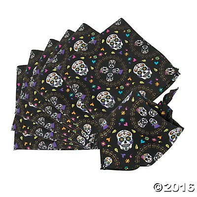 Day of the Dead Bandanas - 12 pc by Party -