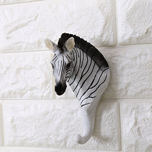 Faux Animal Deer Zebra Head Wall Mount Hanger Animal for sale  Delivered anywhere in USA