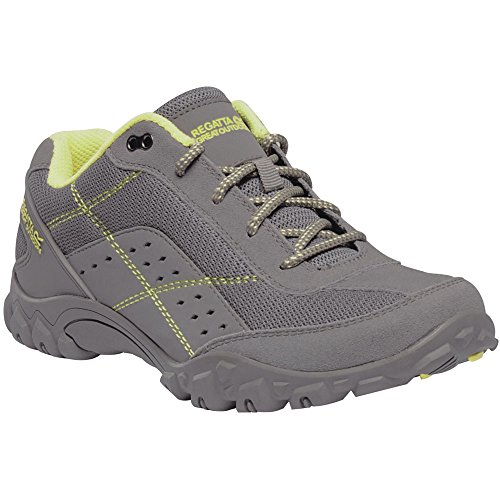 Regatta Lady Stonegate Hiking Boot, Zapatillas de Senderismo para Mujer Gris (Rock Grey/Lime Fizz 37m)