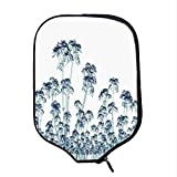YOLIYANA Xray Flower Durable Racket Cover,X ray Photo of a Tropical Forest Exotic Trees Plants Nature Negative Art Print for Sandbeach,One Size