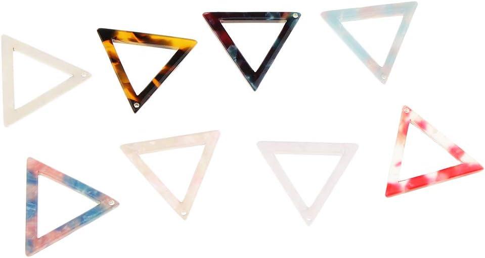 10pcs Acetate Acrylic Oval Charms DIY Earrings Dangle Bead Jewelry Findings