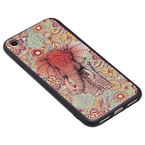 Coque Iphone 7 3D Éléphant De Couleur Premium Gel Tpu Souple