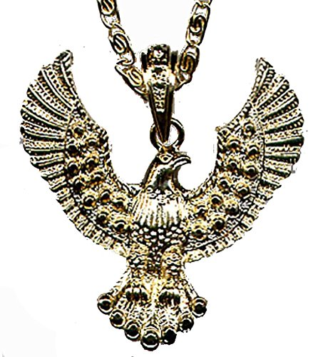 N-EAGLE (Gold Tone) Elvis Style Eagle Necklace 3