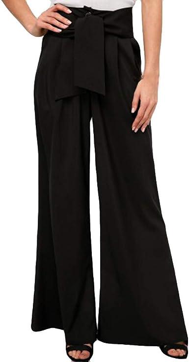 Pantalones Anchos Para Mujer Otono Invierno 2018 Moda Paolian Casual Pantalones Marlene De Vestir Cintura Alta Baratos Fiesta Palazzo Pantalon Acampanados Baggy Negro Con Cinturon Senora Amazon Es Ropa Y Accesorios