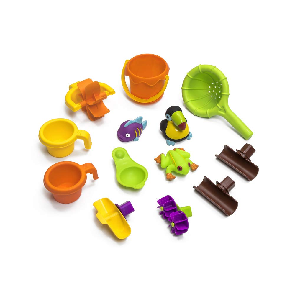 Step2 Tropical Rainforest Water Table | Colorful Kids Water Play Table with 13-Pc Accessory Set by Step2 (Image #6)