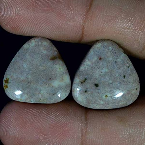 Jasper Cabochons Matched - GovindStore 31.90Cts. Natural Designer Ocean Jasper Fancy Cab Matched Pair Loose Gemstones
