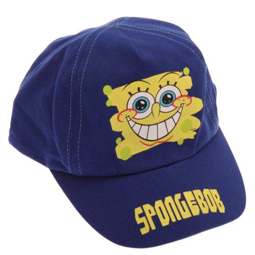 [Childrens/Kids Little Boys SpongeBob SquarePants Baseball Cap (4-8 Years) (Blue/Yellow)] (Jumbo Hip Hop Adult Hat)
