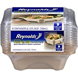 Reynolds Heat & Eat Containers (Disposable, 24 Ounce, 9 Count)
