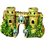 Exotic Environments Castle Fortress with Gargoyles Aquarium Ornament, 10-Inch by 3-1/2-Inch by 5-1/2-Inch