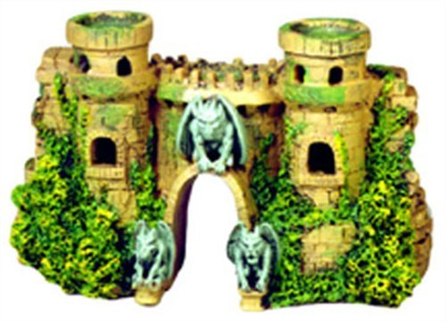 Blue Ribbon Exotic Environments Castle Fortress with Gargoyles Aquarium Ornament, 10-Inch by 3-1/2-Inch by 5-1/2-Inch by Blue Ribbon