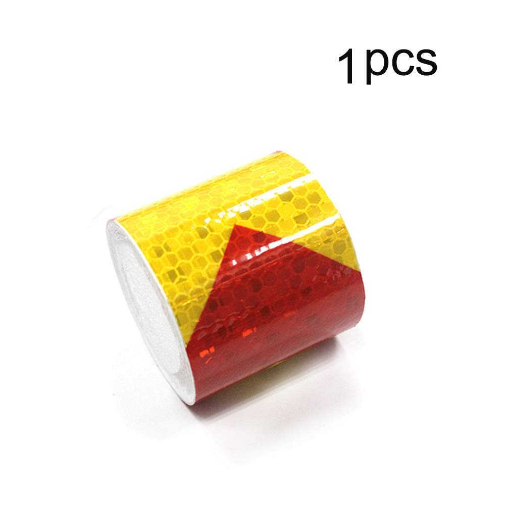 Reflective Hazard Tape Conspicuity Safety Marking Blue White Arrow Types 2/″/×16.4/′ 3 PCS