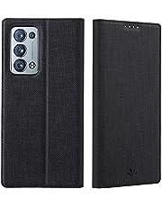 WRNM Case Voor Oppo Reno 6 Pro Plus 5g, Horizontale Flip Stand Wallet Case Met één Kaarthouder, Ingebouwde Magneetsluiting Slanke Lederen Telefooncase Oppo Reno 6 Pro Plus 5g(Color:BLACK)