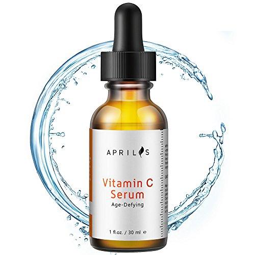 Aprilis 20% Vitamin C Serum with Hyaluronic Acid & Vitamin E, Organic Anti-Aging & Anti-Wrinkle Facial Serum, Dark Circle, Fine Line & Sun Damage Corrector, Restoring & Boost Collagen, 1 fl. oz.