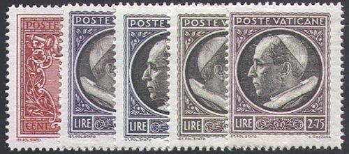 Goldhahn Vatikan 1940 postfrisch Nr. 84-88 - Briefmarken für Sammler