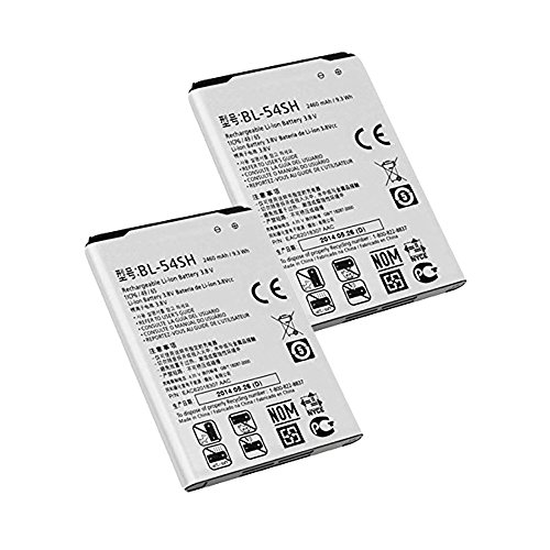(Generic World Star BL-54SH (2-PC) 2460mAh 3.8V Battery for LG Optimus F7 LG870 US870 with 2 Year Limited Warranty)
