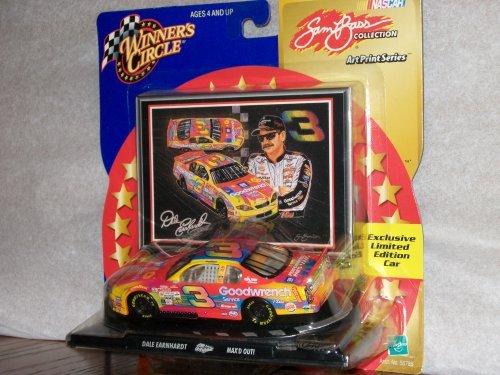 (WINNER'S CIRCLE DALE EARNHARDT NASCAR TOY CAR (SAM BASS ART PRINT SERIES)