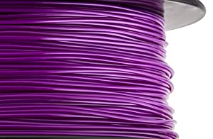 HATCHBOX 3D ABS-1KG1.75-PUR ABS 3D Printer Filament, Dimensional Accuracy +/- 0.05 mm, 1 kg Spool, 1.75 mm, Purple by HATCHBOX