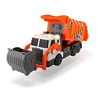 DICKIE TOYS Action Series Garbage Truck: Toys & Games