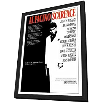 amazoncom scarface 27 x 40 framed movie poster