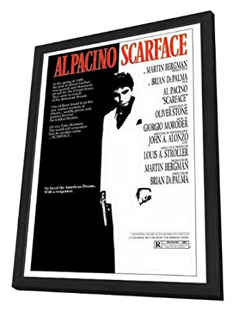 Amazon.com: Scarface - 27 x 40 Framed Movie Poster: Posters & Prints
