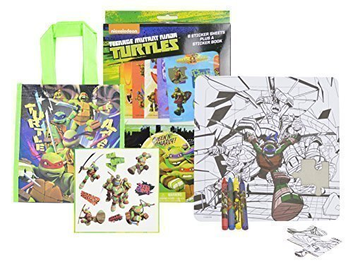 Nickelodeon TMNT Teenage Mutant Ninja Turtles Party Favors, with Tattoos and Tote (Disney Halloween Treat Part 6)