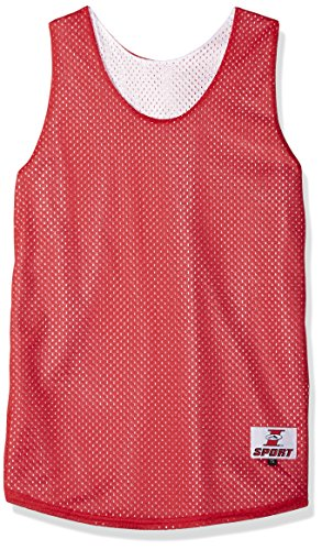 Intensity Youth Eyelet Mesh Pe Cut Jersey, Scarlet/White, X-Large