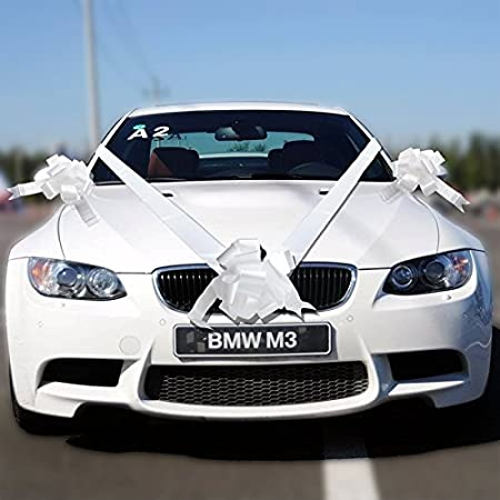 Tts 5 bow 7 metres white wedding car ribbon decoration kit amazon tts 5 bow 7 metres white wedding car ribbon decoration kit junglespirit Gallery