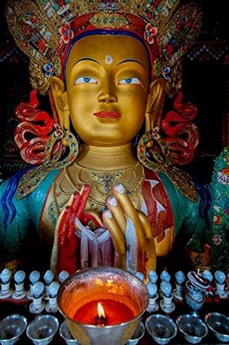 Maitreya Buddha at Thiksey Monastery Leh Ledakh India Poster Print by Ellen Clark (24 x 36)