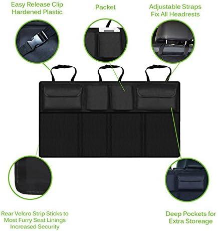 rangement de jouets pour enfants LCluckyml Organiseur de si/ège arri/ère de voiture avec sac isotherme pliable pour 9,7 iPad