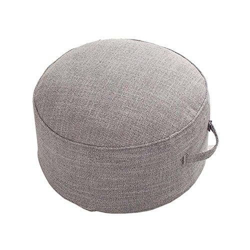 Yoga Meditation Tatami Floor Pillow Seat Cushion Zafu Foot Stool, Light Gray (Footstools Pillows)