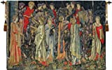 Tapestry, Extra Large, Wide - Elegant, Fine & Wall Hanging - Group of Knights - Quest for the Holy Grail, H51xW72