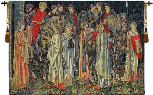 Group of Knights- Quest for the Holy Grail European Wall Tapestry by Charlotte Home Furnishings