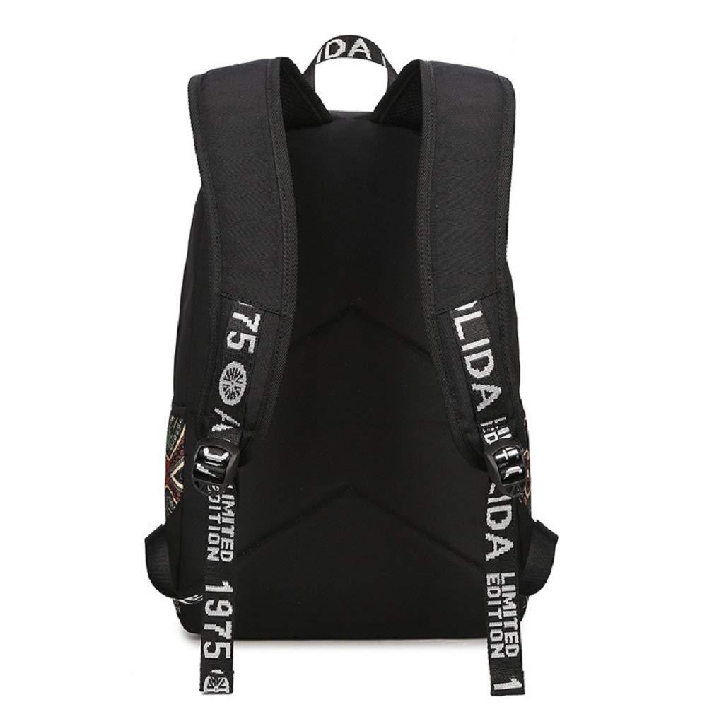 Zhrui Oxford Cloth Impermeable Mochila Bolsa Bolsa Mochila de Viaje al Aire Libre Doble Hombro Mochila Escolar Mochila Casual Satchels (Negro) (Color : Negro) 5b4b1c