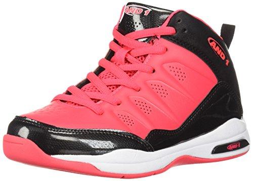 Price comparison product image and 1 Unisex-Kids Breakout Sneaker, Black/Diva Pink, 5 M US Big Kid