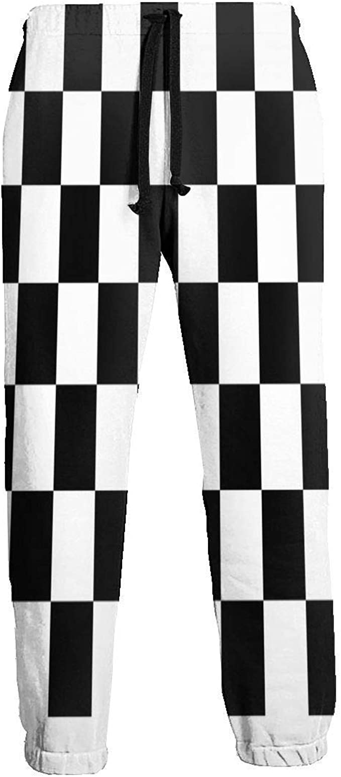 Pantalones de chándal a Cuadros Negros y Blancos para Hombre ...