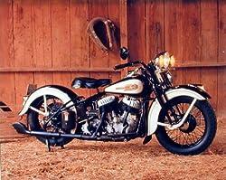 Vintage Flathead Harley Davidson Motorcycle Wall Decor Art Print Picture (8x10)