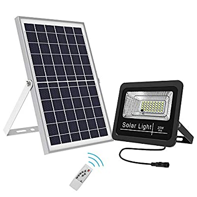LED Solar Flood Lights Dusk to Dawn with Remote