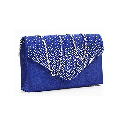 bags Brand Evening Ladies Party Blue Handbag New Bag Wedding Royal Bridal rq7qtFw