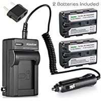 Kastar NPFM50 Battery (2-Pack) + Charger for Sony NP-FM30 NP-FM50 NP-FM51 NP-QM50 NP-QM51 NP-FM55H and CCD-TR DCR-PC DCR-TRV DCR-DVD DSR-PDX GV HVL Series Camcorder (search the model in description)
