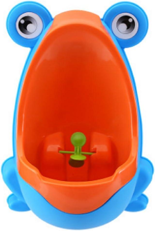 Youkara Urinario Infantil Rana para Niños Orinal Niños Urinario Portatil(Verde)