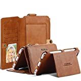 iPhone X 10 8 7 Plus Business Leather Wallet Multi Card Holders Photo Frame Stand Function Slot Cover Money Phone Case Bag For iPhone (Brown, iPhone X)