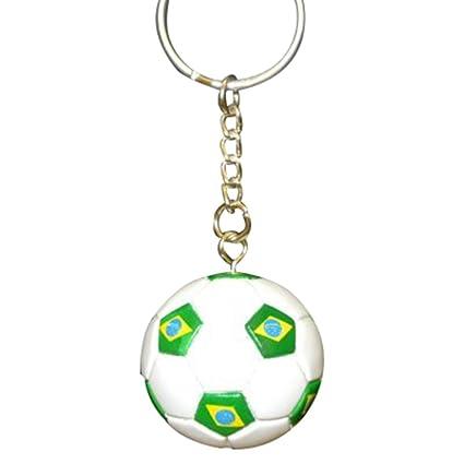 Amazon.com: Brasil Fútbol Fútbol futsbol Balón Keychains ...