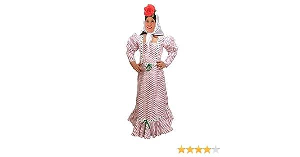 EL CARNAVAL Disfraz Chulapa niña Talla de 6 a 8 años: Amazon.es ...